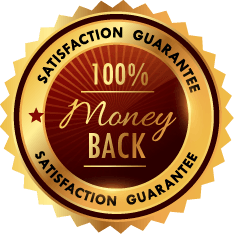 Satisfaction guarantee 100% money back