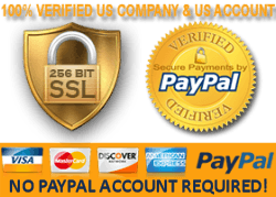 100% PayPal verified US company and US account