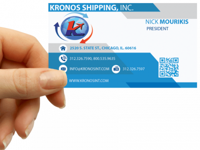 Business Cards Design Kronos Shipping, Inc. and marketing material